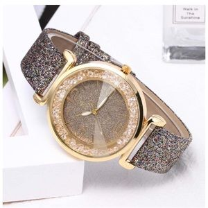 Accessories - Gray Rhinestone Glitter Bling Ladies Watch